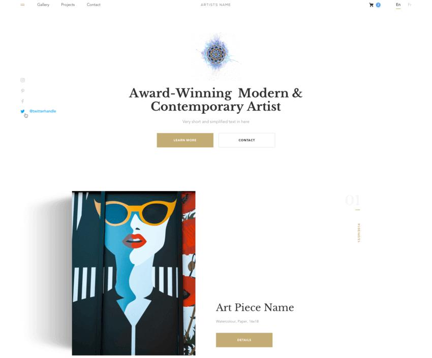 How to Create the Best Artist Website Design 18