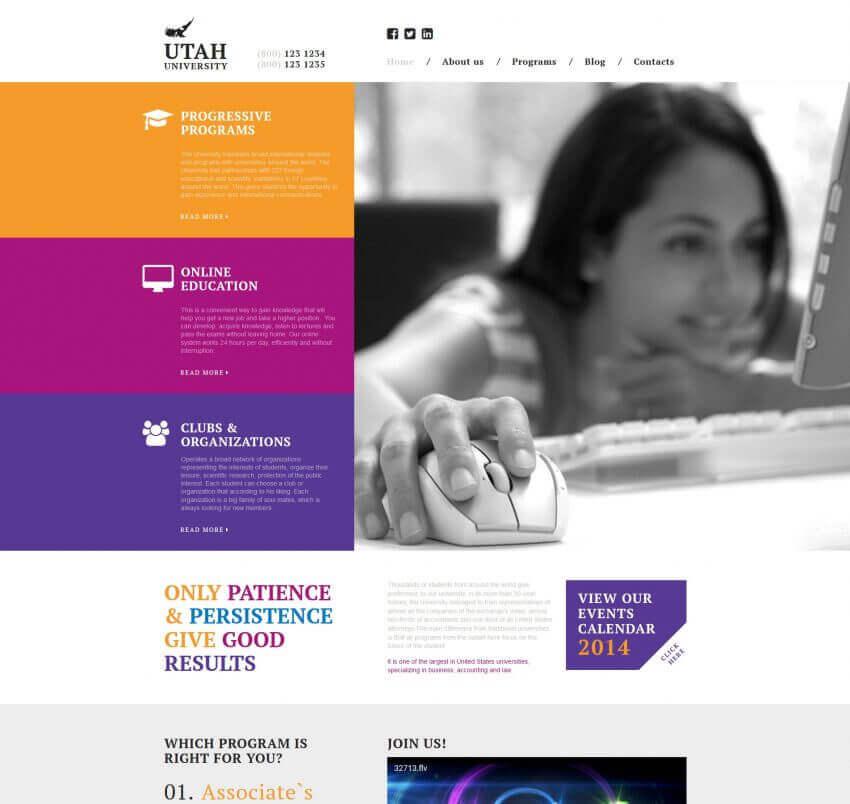 Educational Website Design 16